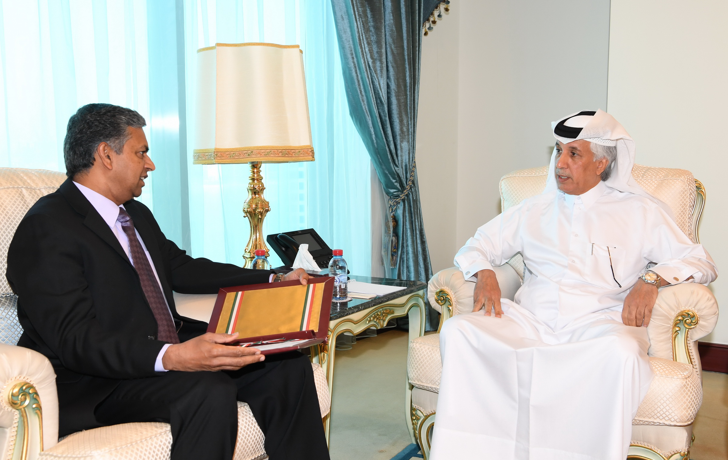 HH the Emir Receives Written Message from Indian Prime Minister