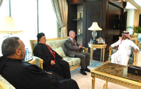 الأمين العام لوزارة الخارجية يجتمع مع النائب البطريركي الماروني للعلاقات الخارجية اللبنانية