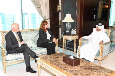 الأمين العام لوزارة الخارجية يجتمع مع سفيرة كندا والقائم بالأعمال بسفارة المملكة المتحدة