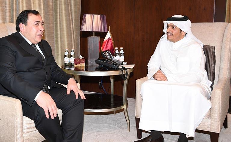 سعادة وزير الخارجية يلتقي نائب وزير الخارجية التركماني