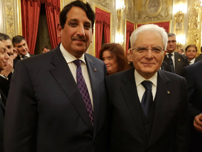 الرئيس الإيطالي يتلقى تهاني سفير قطر بمناسبة أعياد الميلاد ورأس السنة الميلادية