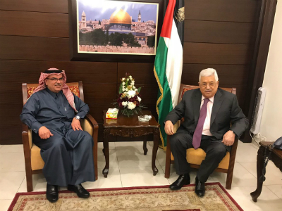 Palestinian President Meets Chairman of Qatari Committee for Reconstruction of Gaza Strip