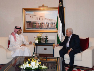 Palestinian President Meets Deputy Prime Minister and Foreign Minister