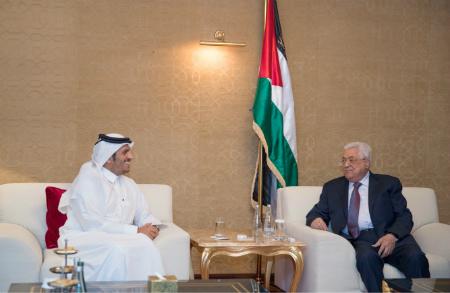 الرئيس الفلسطيني يستقبل نائب رئيس مجلس الوزراء وزير الخارجية