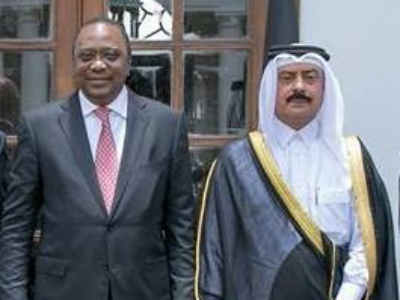 Kenyan President Receives Credentials of Qatar's Ambassador