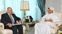 Minister of State for Foreign Affairs Meets Palestinian Ambassador