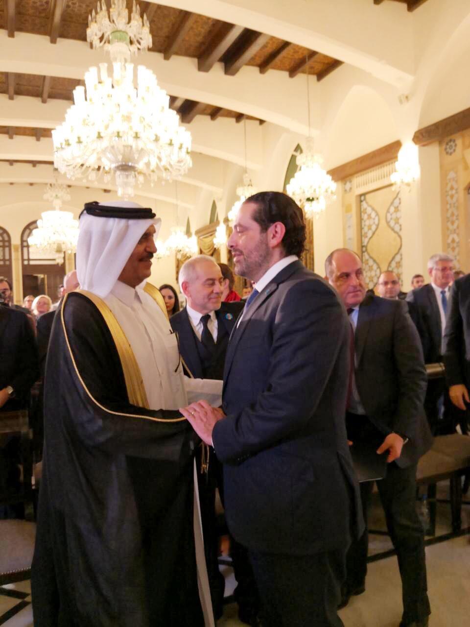سفير قطر يشارك بحفل إطلاق