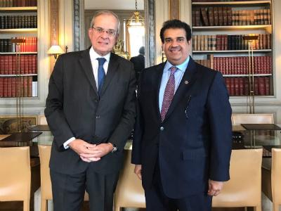 أمين عام وزارة الخارجية الفرنسية يجتمع مع سفير قطر