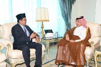 The Minister of State for Foreign Affairs Receives a Copy of the Credentials of the Ambassador of Brunei Darussalam
