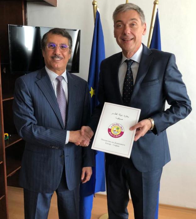 رسالة خطية من نائب رئيس مجلس الوزراء وزير الخارجية إلى نائبة رئيس الوزراء لشؤون الإصلاح القضائي ووزيرة الخارجية البلغارية