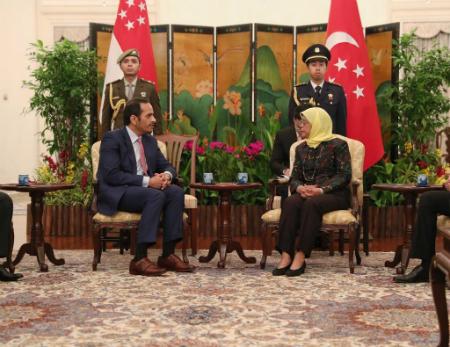 رئيسة سنغافورة تستقبل نائب رئيس مجلس الوزراء وزير الخارجية
