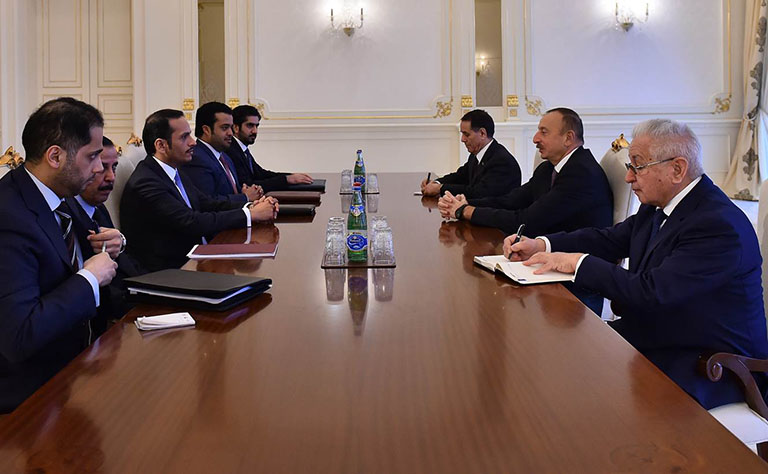 رئيس جمهورية أذربيجان يستقبل سعادة وزير الخارجية