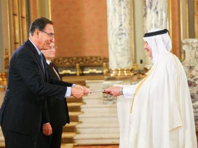رئيس البيرو يتسلم أوراق اعتماد سفير دولة قطر