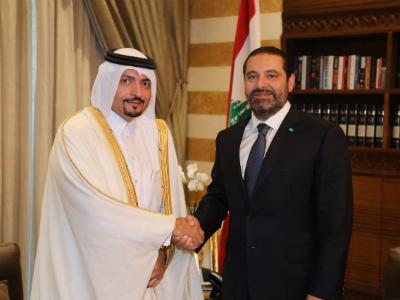 رئيس الحكومة اللبنانية المكلف يستقبل سفير قطر