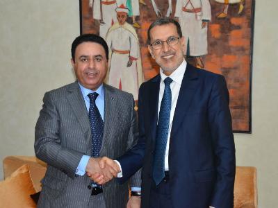 رئيس الحكومة المغربية يستقبل سفير قطر