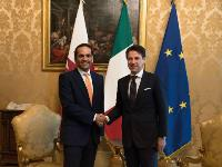 Italian Prime Minister Meets Deputy Prime Minister and Minister of Foreign Affairs