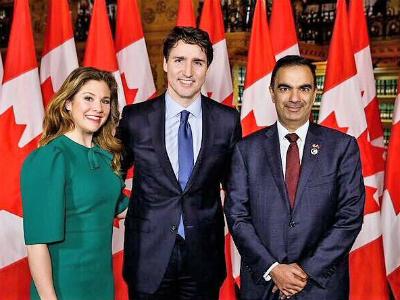 رئيس الوزراء الكندي يلتقي سفير قطر