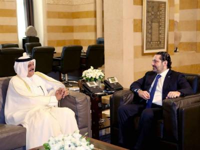 رئيس الوزراء اللبناني يستقبل سفير دولة قطر