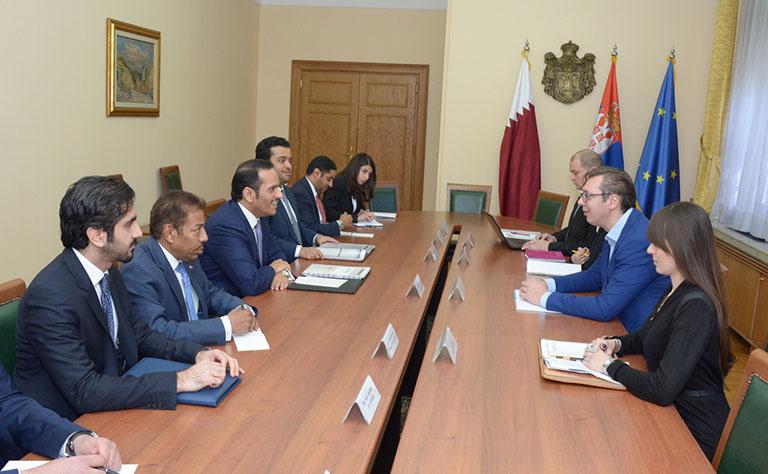 رئيس وزراء صربيا يستقبل وزير الخارجية