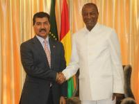 President of Guinea Meets Secretary-General of the Ministry of Foreign Affairs
