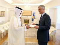President of Kosovo Receives Credentials of Qatar's Ambassador