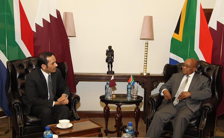 رئيس جنوب أفريقيا يستقبل سعادة وزير الخارجية