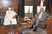 Speaker of Lebanon's Parliament Meets Qatar's Ambassador