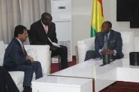 Prime Minister of Guinea Meets Secretary-General of Ministry of Foreign Affairs