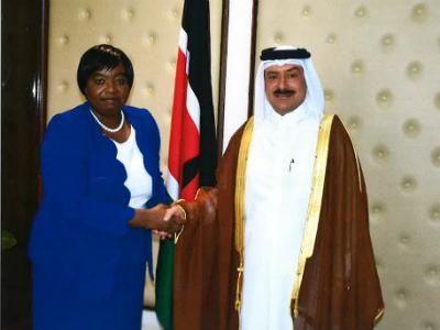 رسالة من نائب رئيس مجلس الوزراء وزير الخارجية لوزيرة الخارجية الكينية