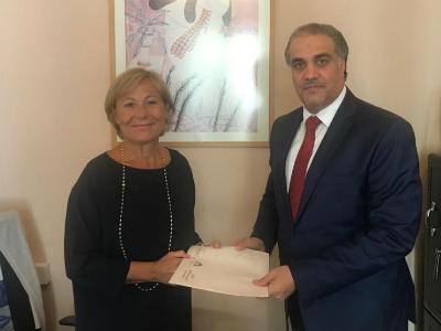 رسالة خطية من نائب رئيس مجلس الوزراء وزير الخارجية لوزير الخارجية اليوناني
