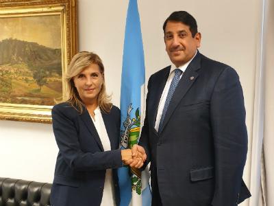 رسالة من نائب رئيس مجلس الوزراء وزير الخارجية إلى وزير الشؤون السياسية الخارجية والعدالة في جمهورية سان مارينو