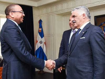 رسالة من نائب رئيس مجلس الوزراء وزير الخارجية إلى وزير العلاقات الخارجية الدومينيكاني
