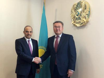 سمو الأمير يبعث برسالة إلى رئيس كازاخستان