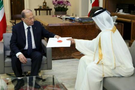سمو الأمير يبعث برسالة خطية إلى الرئيس اللبناني