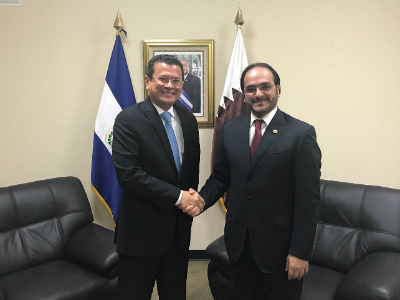 HH the Emir Sends Written Message to President of El Salvador