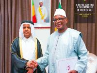 HH the Amir Sends Written Message to President of Republic of Mali