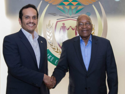 HH the Emir Sends Verbal Message to President of South Africa