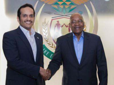 سمو الأمير يبعث رسالة شفوية إلى رئيس جمهورية جنوب إفريقيا