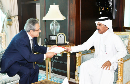 HH the Amir Receives Written Message from President of Peru