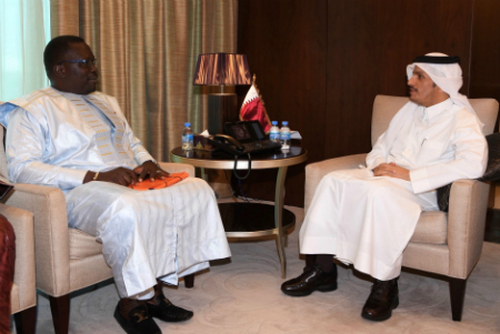 HH the Emir Receives Written Message from President of Burkina Faso