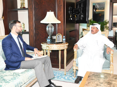 HH the Emir Receives Written Message from President of Hungary
