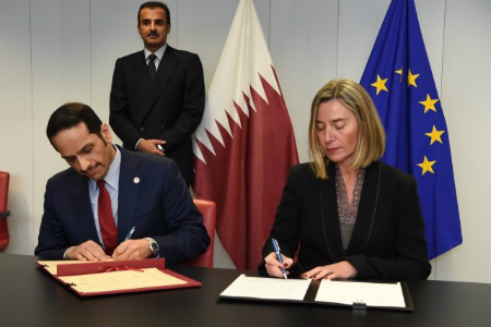 HH the Emir Witnesses Signing of Cooperation Arrangements with EU
