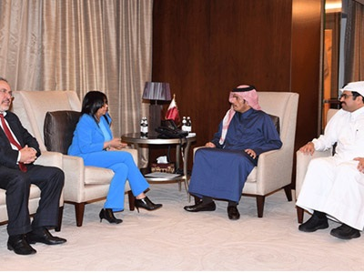 HH the Emir Receives Written Message from Venezuelan President