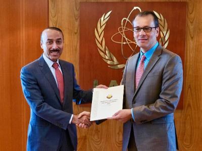 مدير الوكالة الدولية للطاقة الذرية بالإنابة يتسلم أوراق اعتماد مندوب دولة قطر