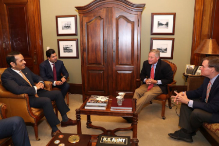 Deputy Prime Minister and Minister of Foreign Affairs Meets Chairman of US Senate Select Committee on Intelligence, Vice Chairman