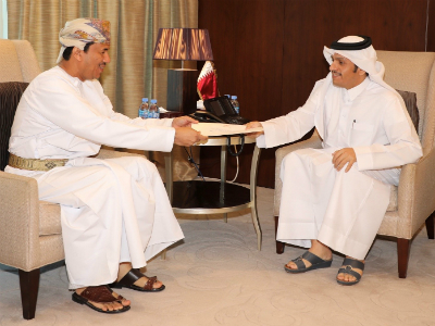Deputy Prime Minister and Foreign Minister Receives Message from Oman's Minister Responsible for Foreign Affairs