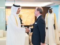 Deputy Prime Minister and Minister of Foreign Affairs Receives Copy of New French Ambassadors Credentials