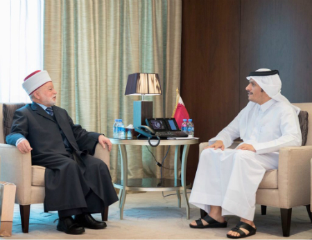 Deputy Prime Minister and Foreign Minister Meets Grand Mufti of Jerusalem