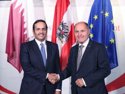 نائب رئيس مجلس الوزراء وزير الخارجية يجتمع مع رئيس البرلمان النمساوي