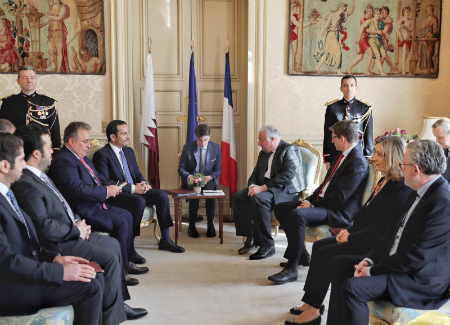 Deputy Prime Minister and Minister of Foreign Affairs Meets French Senate President